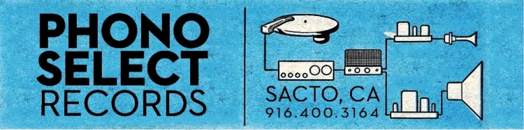 "Phono Select Records: 4370 24th Street, Unit ""O"" near Sacramento City College."
