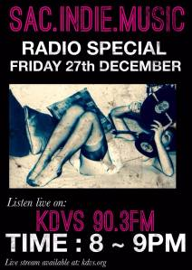 Sac.Indie.Music Live on KDVS 90.3fm 12/27/2013 8-9pm