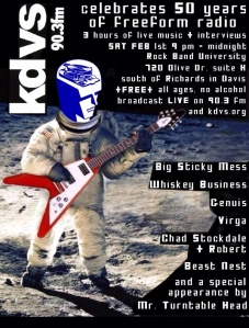 KDVS celebrates 50yrs! 9pm - midnight - Rock Band University (720 Olive Drive, Suite H) ALL AGES!